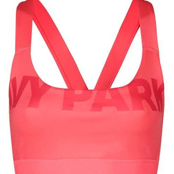 V-Back Mesh Insert Bra by Ivy Park - Ivy Park - Clothing