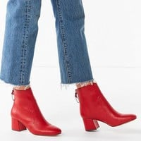 Harlow Faux Leather O-Ring Zipper Ankle Boot | Urban Outfitters