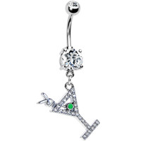 Martini For Me Playboy Belly Ring   Body Candy Body Jewelry