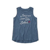 logo graphic muscle tank