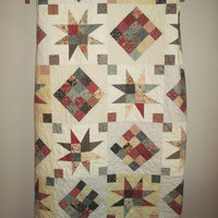 SALE - Handmade lap Quilt with pillow.