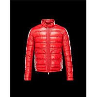 Moncler ACORUS Ultralight Red Jackets Techno Fabric/Polyamide Mens 41338935MA