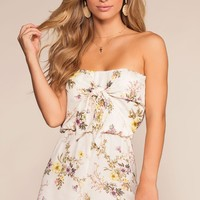 Freesia Floral Romper - Ivory