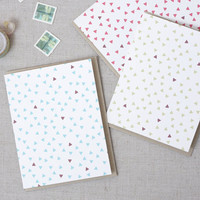 Modern Triangle Pattern Card // Blank Note Card // Set of three (3) // Any Occassion Note Card Set