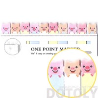 Tiny Piglet Pig Shaped Animal Themed Sticky Post-it Memo Bookmark Tabs