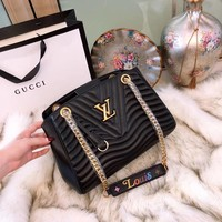 Louis Vuitton Women Shopping Fashion Leather Chain Satchel Shoulder Bag Crossbody