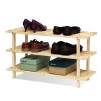 Furinno FNCJ-33003 Pine Solid Wood 3-Tier Shoe Rack - Walmart.com