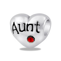 DaVinci Beads Aunt With Red Stone Jewelry