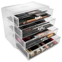 Acrylic Drawer Makeup Organizer with 4 Drawers | Overstock.com Shopping - The Best Deals on Makeup Cases
