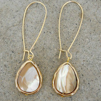 Opalescent Drop Earrings [3313] - $18.00 : Vintage Inspired Clothing & Affordable Fall Frocks, deloom | Modern. Vintage. Crafted.