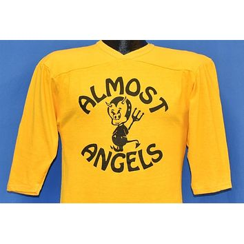70s Almost Angels Devils Yellow Jersey t-shirt Small
