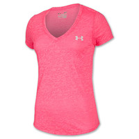 Women's Under Armour PIP Achieve Ribbon V-Neck T-Shirt
