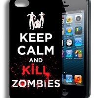 New Keep Calm and Kill Zombies Walking Dead Inspired Iphone 5 and 5s Case