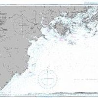 British Admiralty Nautical Chart 1965: Cua Lac Giang to Iles Kao Tao including the Delta of the Song Ca