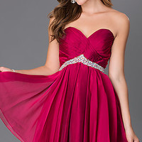 Short Strapless Sweetheart Alyce Homecoming Dress 3670