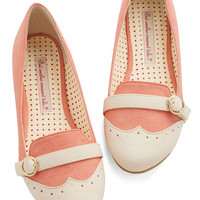 Bait Footwear Vintage Inspired Sip of Liqueur Flat in Peach