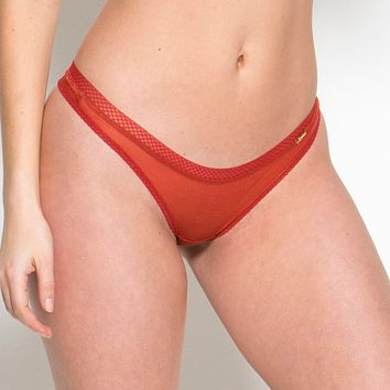 Sheer See Through Thong Panty Gossard Glossies Cayenne