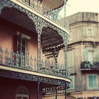 French Quarter Art, New Orleans Photography, Iron Balcony, Cajun Decor, Louisiana Travel, Brown Wall Art - The Dream on Royal Street