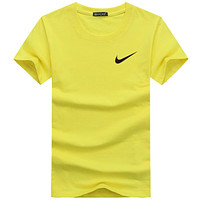 NIKE new chest classic logo letter round neck loose short-sleeved T-shirt F-A000-PPNZ Yellow
