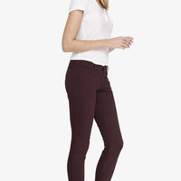 BERRY LOW RISE BRUSHED SATEEN LEGGING from EXPRESS