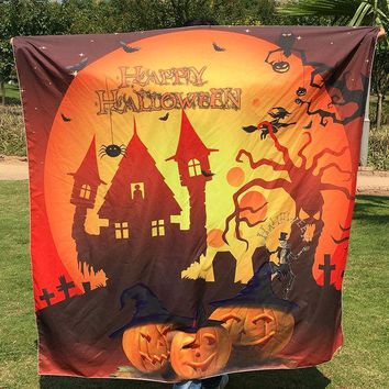 CREYU3C 1pc Halloween Tapestry Beach Towel Hippie Wall Hanging Bed Sheet Dorm Sofa Cover Curtain Table Cloth Home Party Decor