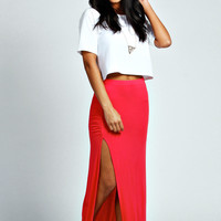 Ria Rouched Top Jersey Maxi Skirt
