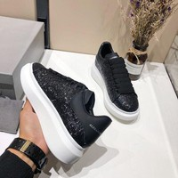 DCCK Alexander McQueen Women Men Fashion Casual White and Black sports shoes Size 36-45