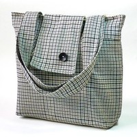 Ready to ship PARIS Amy Wool GRAY plaid   French by ikabags