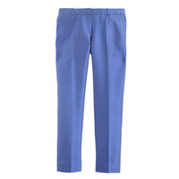 PETITE COLLECTION CROPPED PANT IN PINTUCKED SILK SHANTUNG