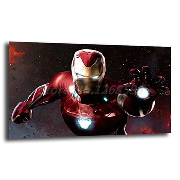 The Avengers Canvas Wall Art HD Printed Iron Man Marvel Super Heroes Figure Painting Living Room Bedroom Home Decor Pictures