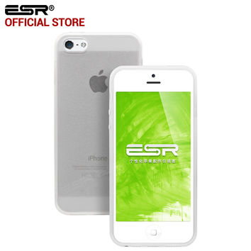 ESR Hybrid Shock Absorbent Cover Corner protection + Hard Clear PC Back Cover for iPhone 5 SE/5/5s