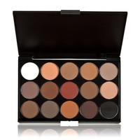 Anself Professional 15 Colors Women Cosmetic Makeup Neutral Nudes Warm Eyeshadow Palette