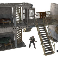 McFarlane Walking Dead TV Prison Catwalk Building Set