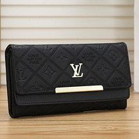 Louis Vuitton LV Fashion Leather Purse Wallet
