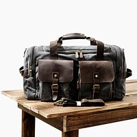MUCHUAN Mens Canvas Leather Travel Bags Carry on Luggage Handbags Big Traveling Duffel Bags Tote Large Weekend Bag Overnight
