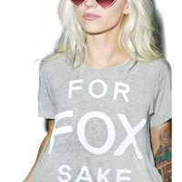 Wildfox Couture For Fox Sake Middie Tee | Dolls Kill