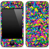 New Neon Sprinkles iPhone 3GS, 4/4s or 5, iPod Touch 4th or 5th Gen, Galaxy S2 or S3 Skin