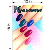 Nail Designs 01 Wallpaper Poster Decal with Adhesive Backing Wall Sticker Decor Indoors Interior Sign Vertical