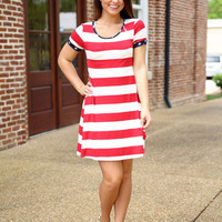 Born on the 4th of July Dress- Red
