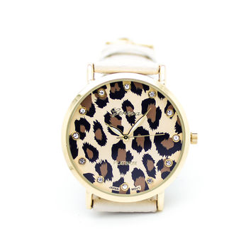 Leopard print watch (4 colors)