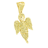 Angel Cherub Simulated Diamond Iced out Pendant