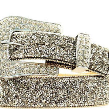 Ariat Women's Western Crystal Chip Leather Belt