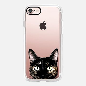 Peeking Cat - Transparent iPhone 7 Case by Nicklas Gustafsson | Casetify