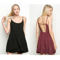 Open Back Dress, One size Fits Most 2 Colors