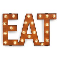 Universal Ironworks 'Marquee Lights - Eat' Recycled Metal Sign