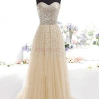 New Fashion Women's Cocktail Party Strapless Sexy Prom Gown Dress [7955211079]