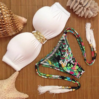 Hot Beach Swimsuit New Arrival Summer Print Floral Sexy Ladies Swimwear Bikini [9871379087]