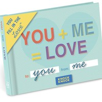 You + Me = Love Journal