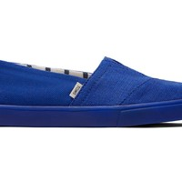 TOMS - Venice Collection Indigo Blue Heritage Canvas Women's Cupsole Classics Slip-Ons