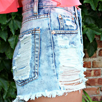 Throw Back Thursday High Rise Shorts